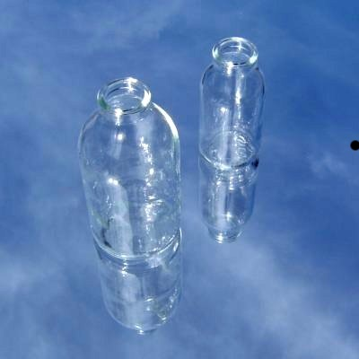 NEW M&B blow mouled glas with VERY thin walls.